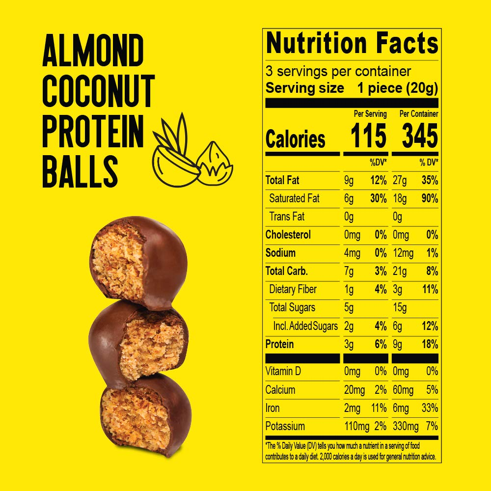 almond covered chocolate balls