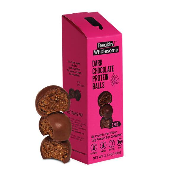 dark chocolate covered healthy balls