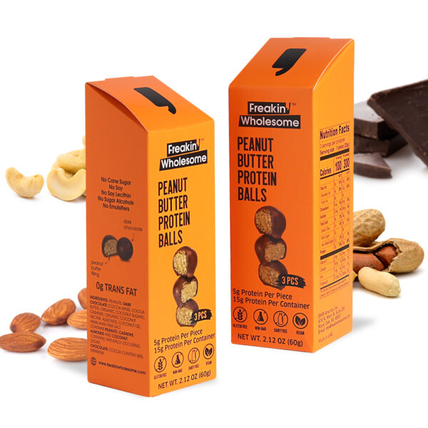 healthy peanut balls with chocolate