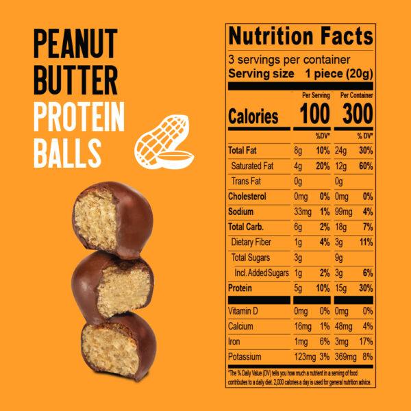 Peanut filled protein balls